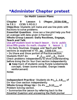 5th Grade Chapter 9 Go Math Lesson Plans