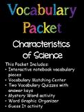 5th Grade Characteristics of Science Vocabulary Packet