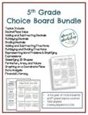 5th Grade Choice Boards Bundle