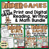 5th Grade Christmas Activities: 5th Grade Reindeer Games Literacy and Math