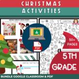 5th Grade Christmas Activities | Print & Digital BUNDLE |