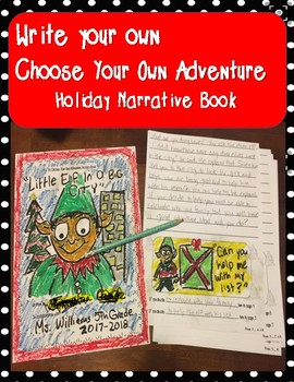 Christmas Narrative Group Writing activity 5th parent gift