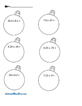 5th Grade Christmas Math