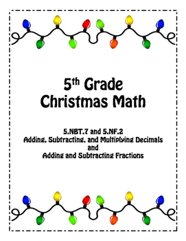 5th Grade Christmas Math