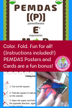 Christmas Math Activities - 5th Grade Math Color by Number Activity