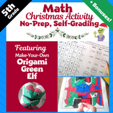 Christmas Math Activities - 5th Grade Math Color by Number