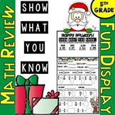 """5th Grade Christmas Math Review: """"Show What You Know"""" Christmas Math Craftivity"""