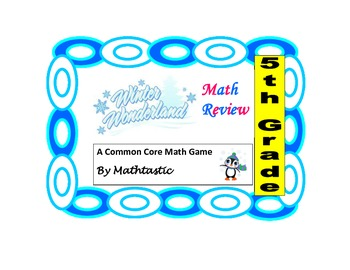 Christmas- 5th Grade Math Review Game for Common Core (Part 2)