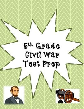 5th Grade Civil War Test Prep