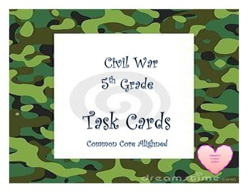 Civil War and Reconstruction Task Cards