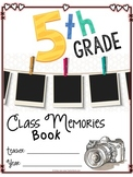 Fifth Grade Memory Book