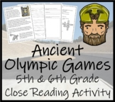 The Ancient Olympic Games; 5th & 6th Grade Close Reading Activity