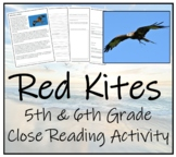5th-7th Grade Close Reading Activity; Birds of Prey - Red Kites