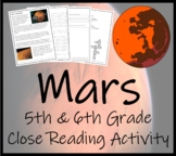 5th-7th Grade Close Reading Activity; Mars - The Red Planet