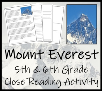 picture about 5th Grade Reading Games Printable called Mount Everest - 5th 6th Quality Conclude Looking at Video game