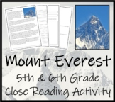 Mount Everest - 5th & 6th Grade Close Reading Activity
