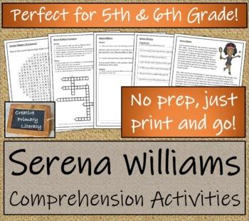 5th-7th Grade Close Reading Activity; Serena Williams