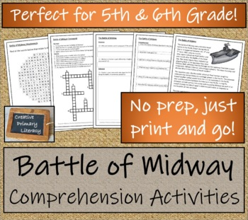 WWII: The Battle of Midway - 5th & 6th Grade Close Reading Activity