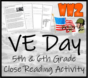 WWII: VE Day - 5th & 6th Grade Close Reading Activity