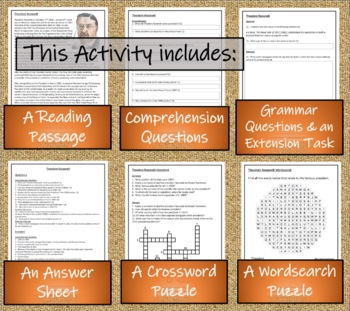 Theodore Roosevelt 5th & 6th Grade Close Reading Activity