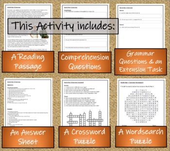 WWII: World War 2 (Overview) - 5th & 6th Grade Close Reading Activity