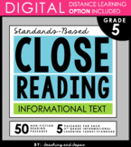 5th Grade Close Reading Passages and Questions- Informational