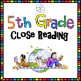 5th Grade Close Reading - Literature (20 Passages)
