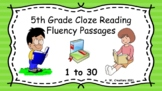5th Grade Cloze Reading Fluency Passages - Sets 1 to 30 (G