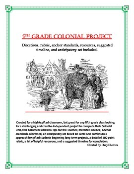 5th Grade Colonial Project