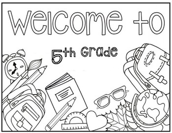 5th grade coloring pages 5th Grade Coloring Page by Christa Leigh Designs | TpT 5th grade coloring pages