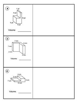 5th Grade: Combined Volume Classwork