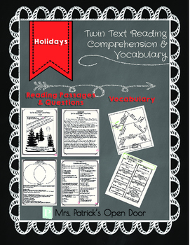 Twin Text Reading Comprehension and Vocabulary- Holiday