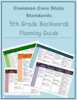 5th Grade Common Core Backwards Planning Guide