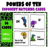 Powers of Ten (Base 10) Exponent Matching Card Set