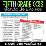 5th Grade Common Core CCSS Standards Step-Up Reference Che