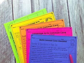 5th Grade Common Core Checklists