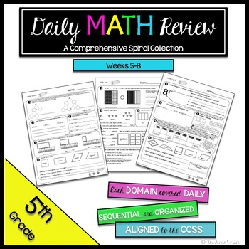5th Grade Common Core Math Review {Weeks 5-8}
