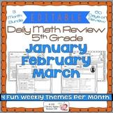 Math Morning Work 5th Grade Bundle Editable, Spiral Review