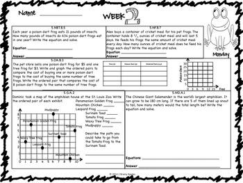 Math Morning Work 5th Grade May Editable
