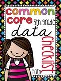 {5th Grade} Common Core Data Checklist - MATH