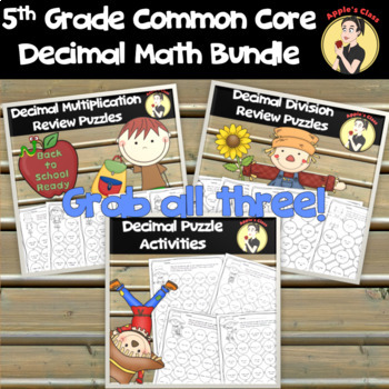 5th Grade Common Core Decimal Practice Bundle
