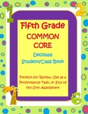 5th Grade Decimals Student/Class Book Assessment/Study Guide/Task