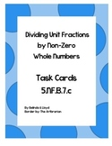 5th Grade Common Core Divide Unit Fractions by a Whole Number Task Cards