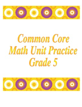 5th Grade Common Core Division Unit