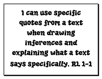 """5th Grade Common Core ELA """"I Can"""" Statements & Essential Questions Pack"""