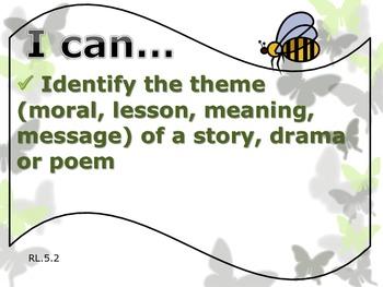 """5th Grade Common Core ELA (Literature) """"I Can"""" Statements"""