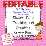 Student Data Tracking Binder | Data Graphing: 5th Grade ELA Literacy *EDITABLE*