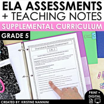 5th Grade ELA Assessments - Reading Comprehension - Grammar - Writing