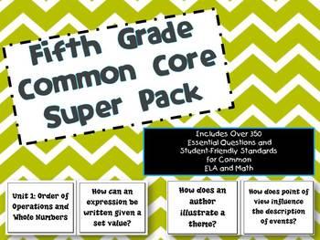 5th Grade Common Core ELA/Math Bundle