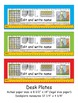5th Grade Common Core Editable Desk Plates: Solid Colors (4th Grade Too)